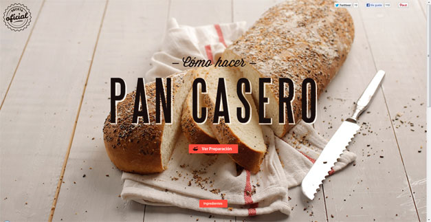 01 fullscreen website pan casero1 30 Outstanding Full screen Websites