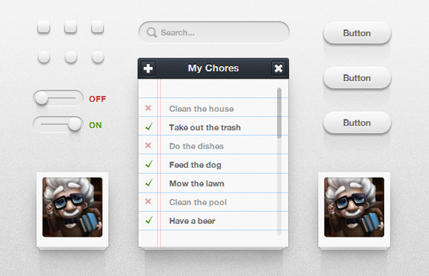 css3 user interface kit design website