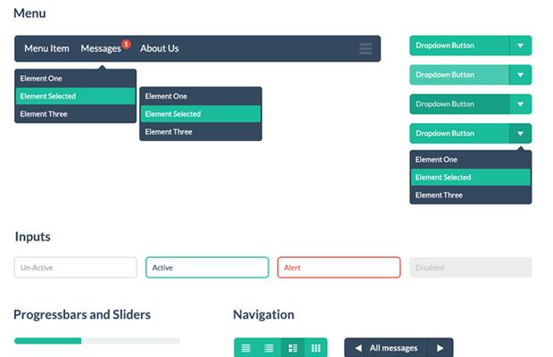 flat free ui kit css design open source designmodo