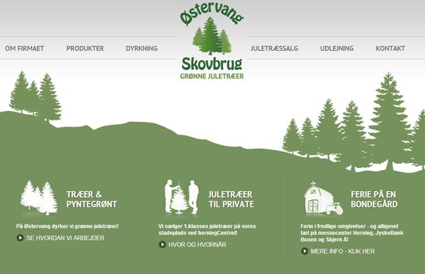 ostervang skovbrug website green layout inspiring