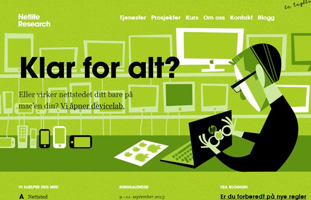 green netlife website layout inspiring