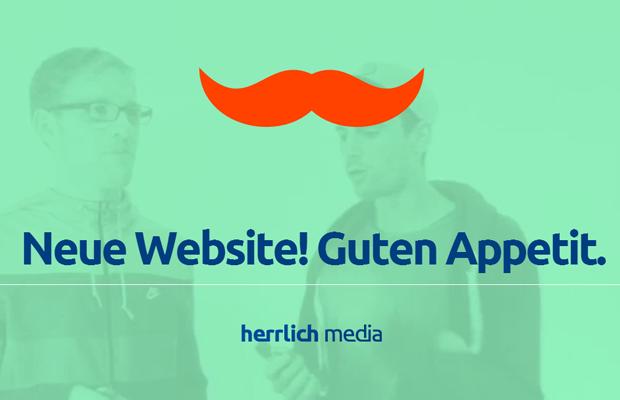 green german website layout mustache design