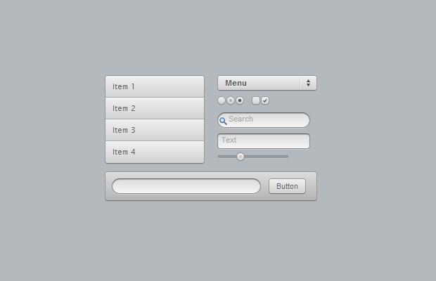 basic dribbble github ui kit open source