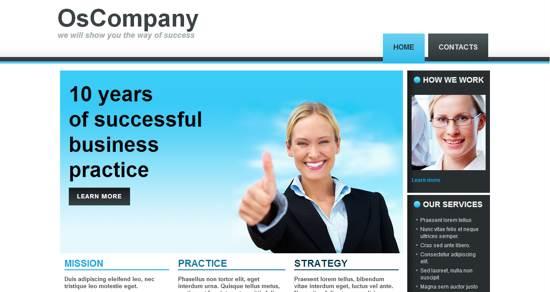 Os company web template