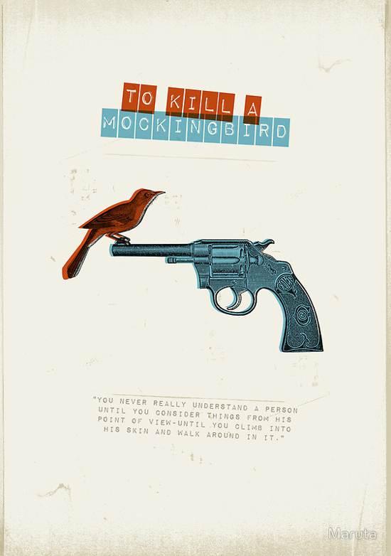 to kill a mockingbird retro poster design