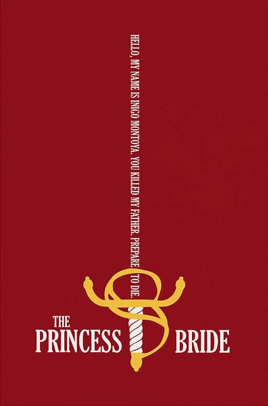 the princess bride retro poster design