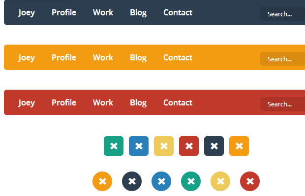 components flat user interfaces css buttons codepen