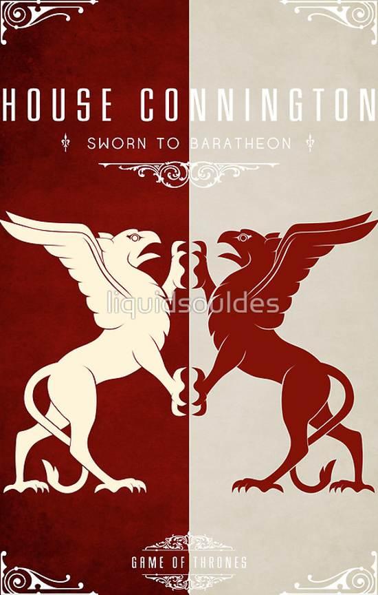 house Connington retro poster design