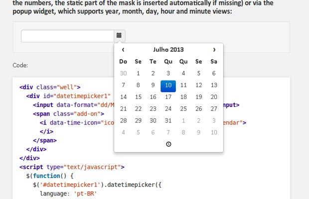 Bootstrap Datetime