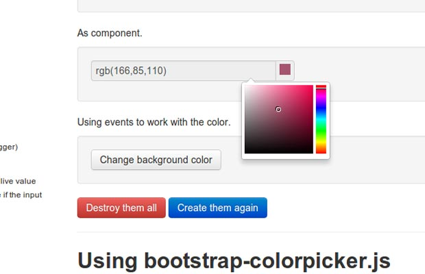 Colorpicker for Bootstrap