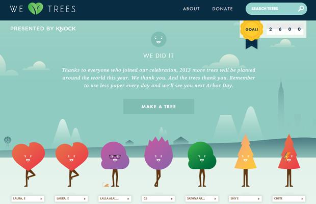 green natural website layout heart trees inspiring