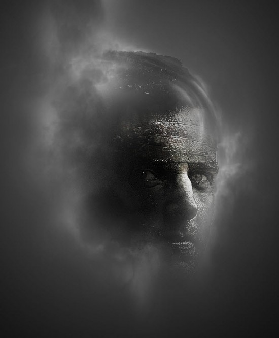 4 cloud 550x665 Create Facial Photo Manipulation Surrounded by Electrified Orbs in Photoshop