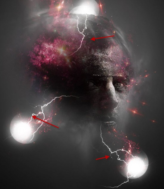 6 attach 550x635 Create Facial Photo Manipulation Surrounded by Electrified Orbs in Photoshop
