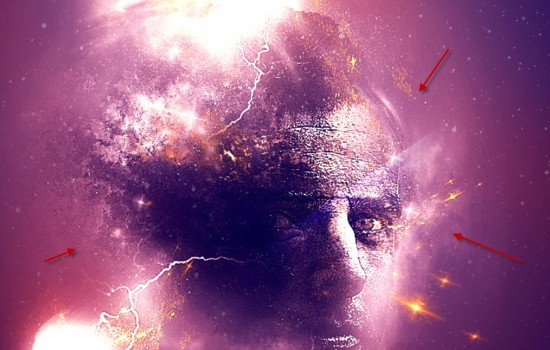 7 dots 550x350 Create Facial Photo Manipulation Surrounded by Electrified Orbs in Photoshop