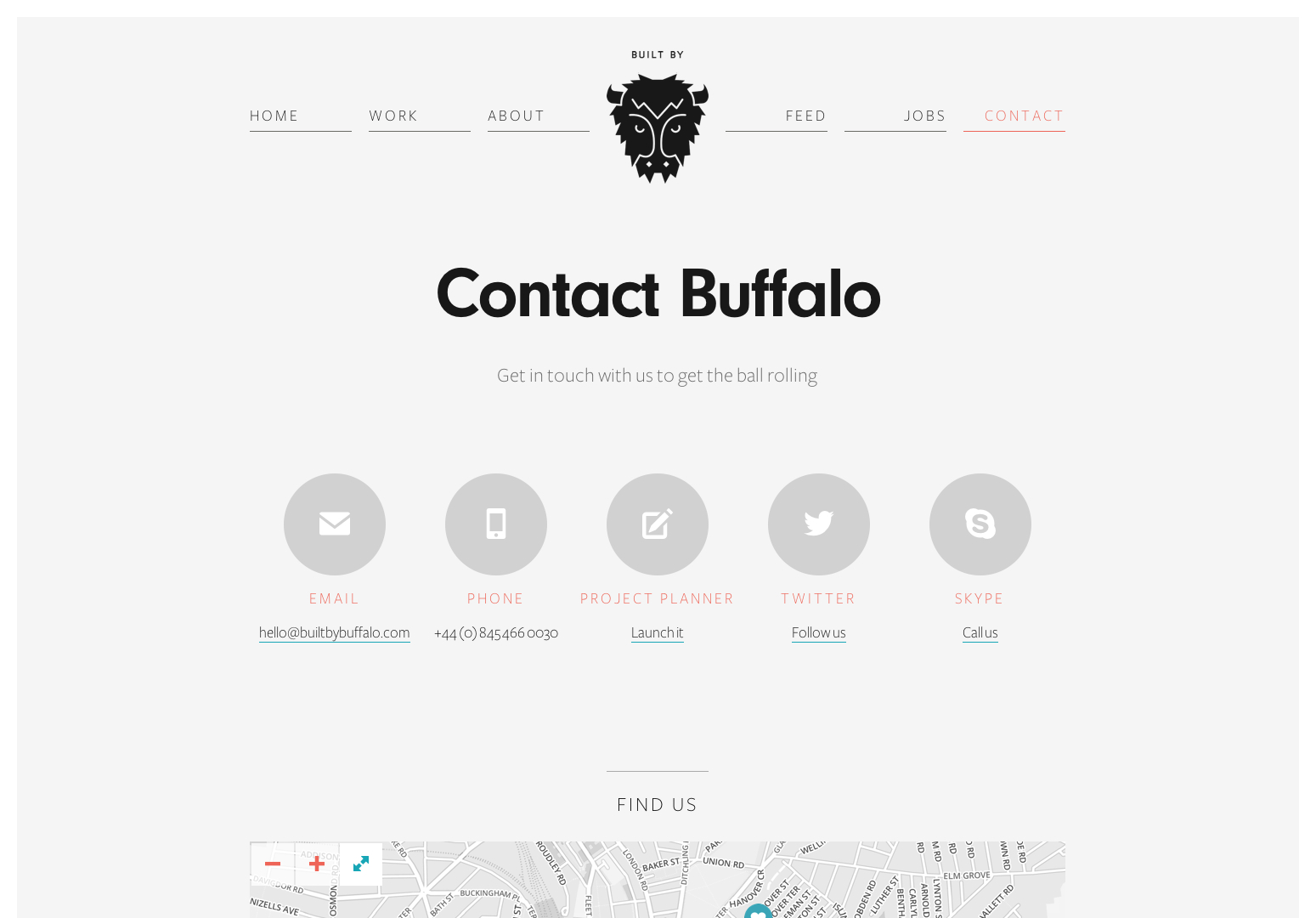 Contact Us - Built by Buffalo Web Design - Brighton UK