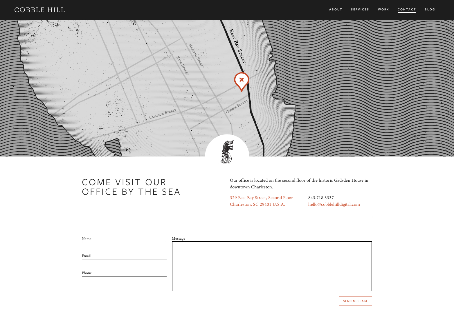 Contact | Cobble Hill – A Creative Agency and Design Studio in Charleston, SC