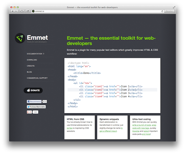 Speed Up HTML Coding With Emmet