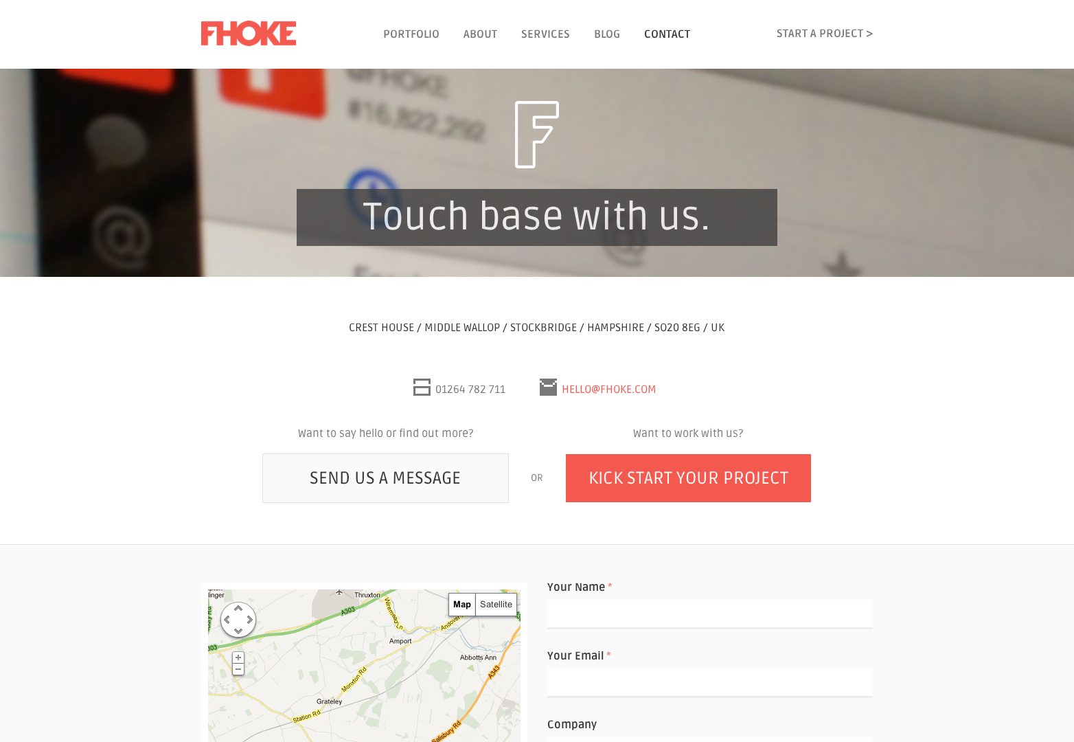 Contact | Web Design, Website Design Agency | Andover, Hampshire, UK
