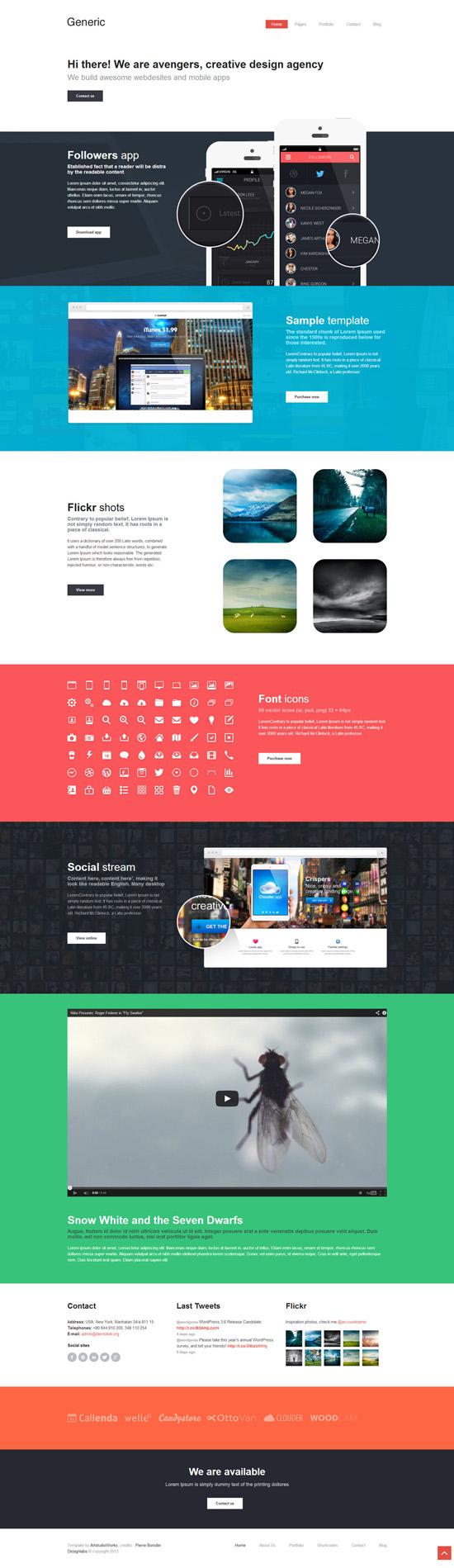 Generic - Unique Flat WordPress Theme
