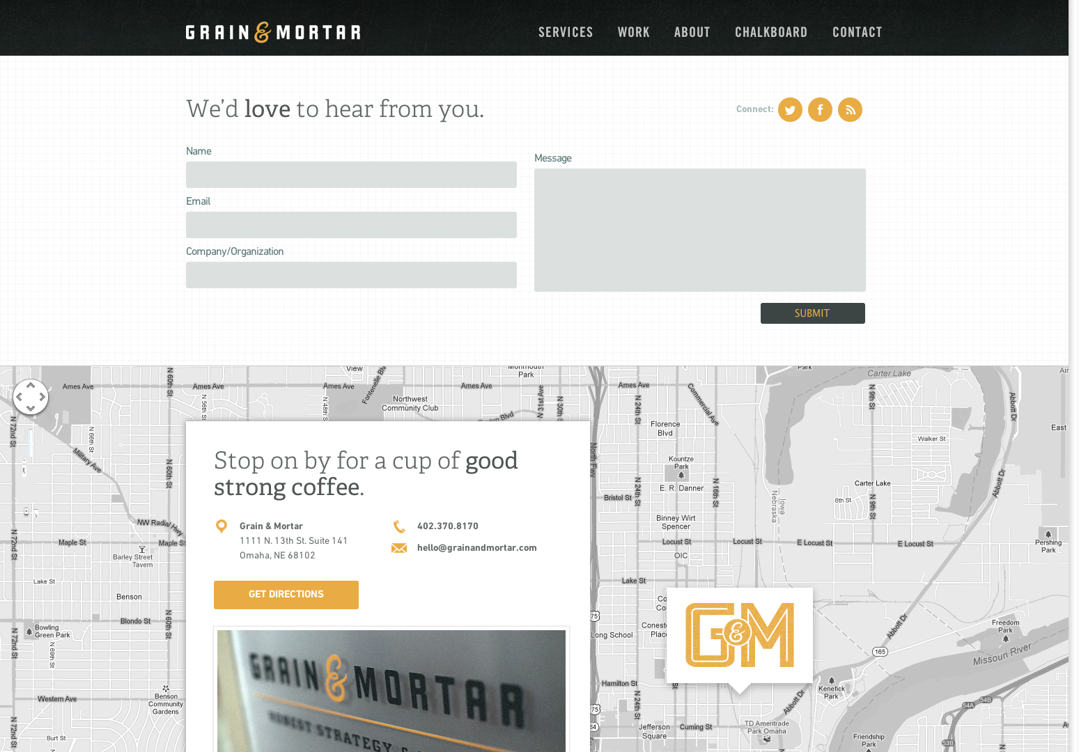 Contact Grain & Mortar | Grain & Mortar | Strategy + Branding + Design