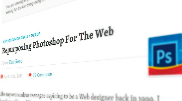 Repurposing Photoshop For The Web