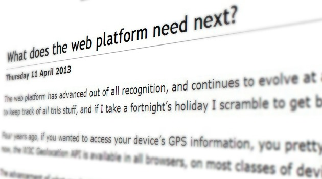 What does the web platform need next?