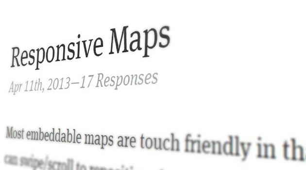 Responsive Maps