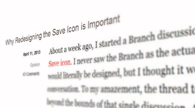 Why Redesigning the Save Icon is Important
