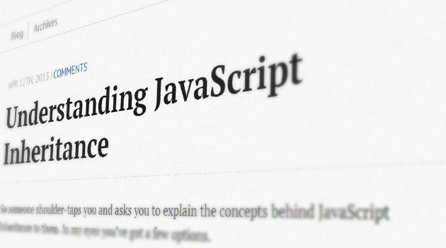 Understanding JavaScript Inheritance