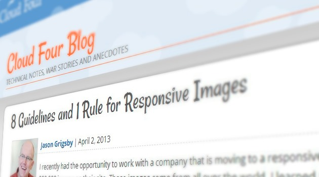 8 Guidelines and 1 Rule for Responsive Images