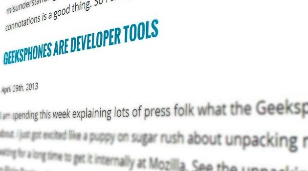 Geeksphones Are Developer Tools