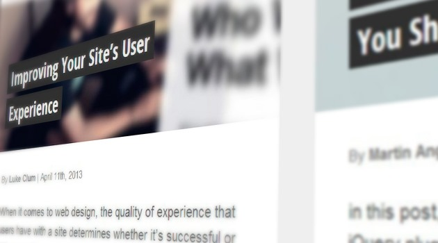 Improving Your Site's User Experience