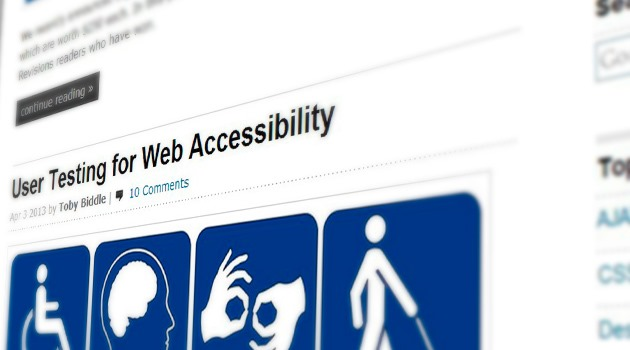 User Testing for Web Accessibility