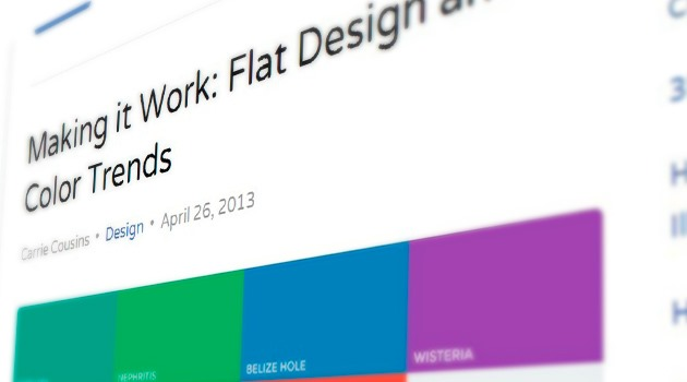 Making it Work: Flat Design and Color Trends