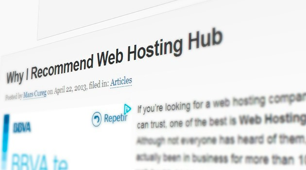 Why I Recommend Web Hosting Hub