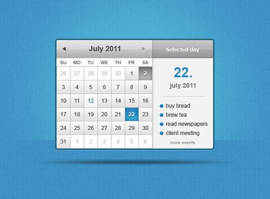 40 Beautiful Free Calendar PSD Designs
