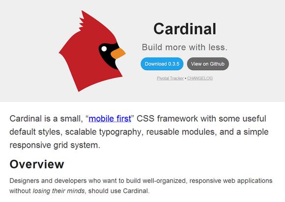 Cardinal: A Small & Mobile First CSS Framework