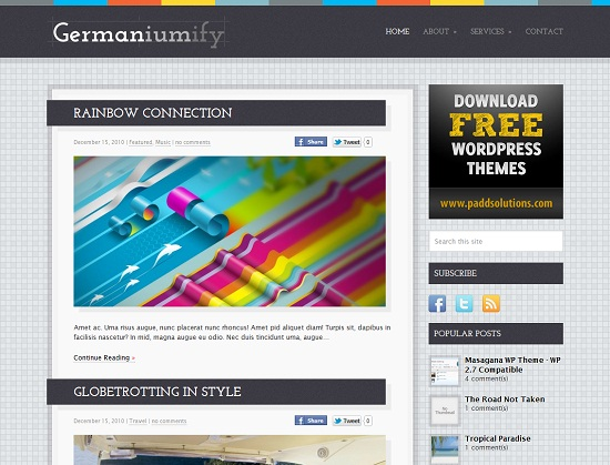 25 Free High Quality WordPress Themes