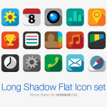 Long Shadow Flat Icon Set by Simon Rahm