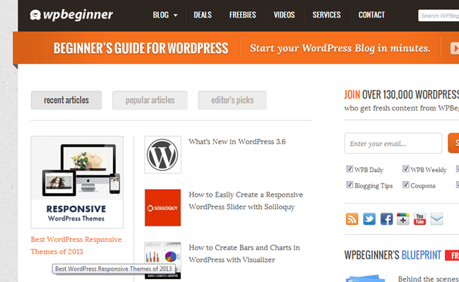 wordpress beginner online blog magazine articles