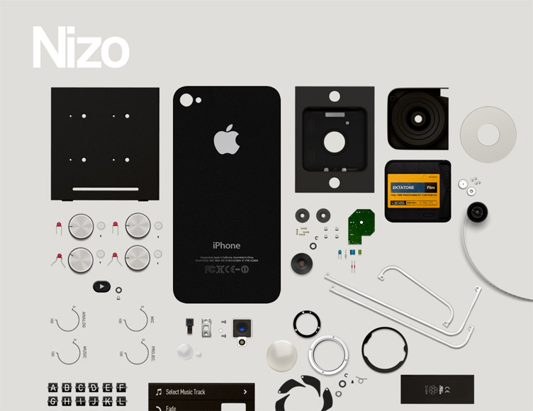 Nizo for iPhone - Beatifully designed coming soon page