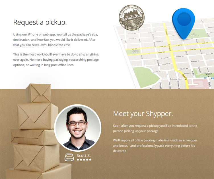 Shyp - Beatifully designed coming soon page