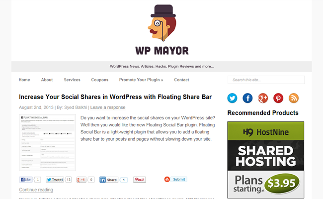 wordpress mayor website tips articles blog
