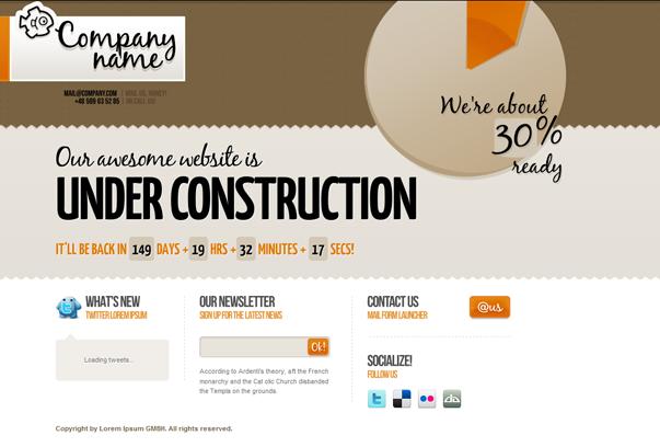WordPress Under Construction Theme