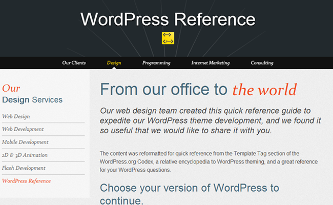 wp wordpress references guide inspiration