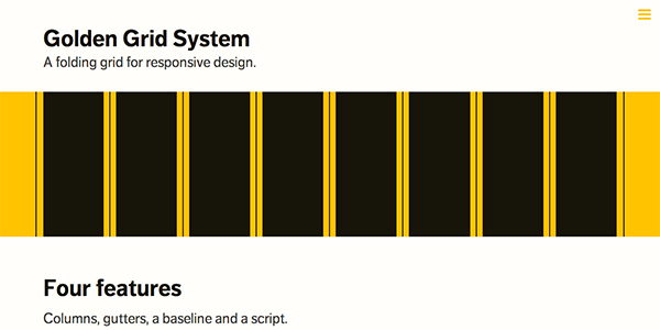 The responsive Golden Grid System