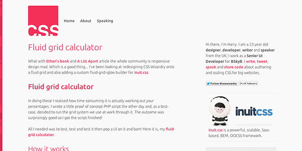 From Harry Roberts (CSS Wizardry) the Fluid Grids Calculator.