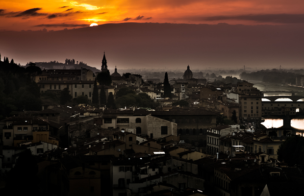 florence italy sunset desktop wallpaper