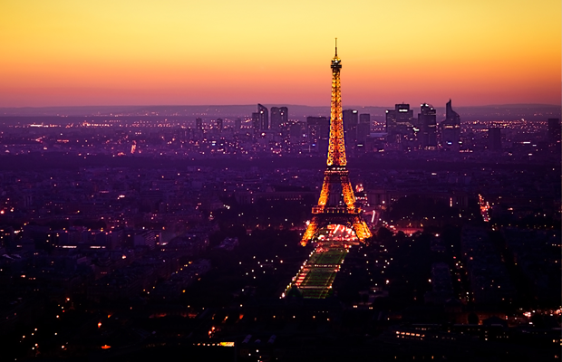 nighttime paris city france desktop wallpaper