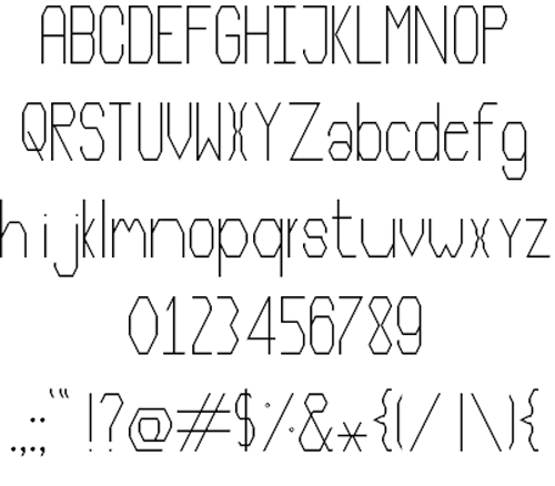 free thin fonts
